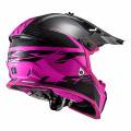 Casco cross/enduro LS2 Helmets MX437 FAST EVO Roar Matt Black Purple