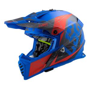 Casco cross/enduro LS2 Helmets MX437 FAST Alpha Matt Blue