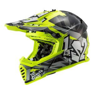 Casco cross/enduro LS2 Helmets MX437 FAST Crusher Black HV Yellow