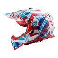 Casco cross/enduro LS2 Helmets MX437 FAST Funky Red White