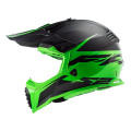 Casco cross/enduro LS2 Helmets MX437 FAST Roar Matt Black Green