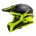 Casco cross/enduro LS2 Helmets MX437 FAST Roar Matt Black HV Yellow