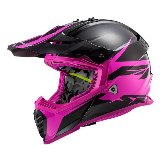 Casco cross/enduro LS2 Helmets MX437 FAST Roar Matt Black Purple