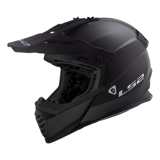 Casco cross/enduro LS2 Helmets MX437 FAST Solid Matt Black