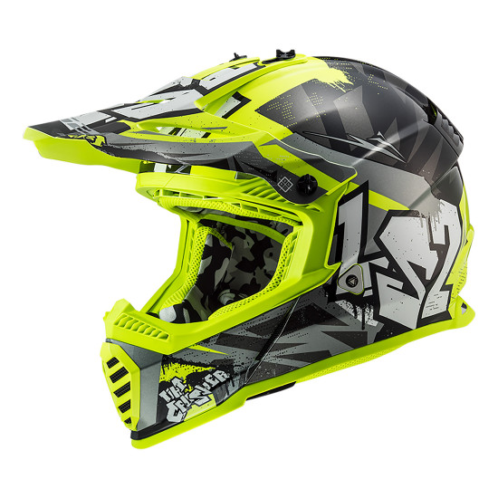 Casco infantil LS2 MX437J Fast Mini Evo Black HV Yellow