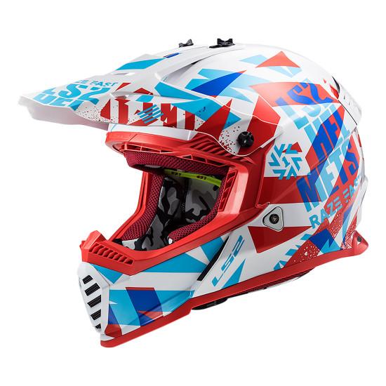 Casco infantil LS2 MX437J Fast Mini Evo Red White