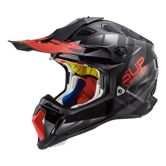 Casco cross/enduro LS2 Helmets MX470 SUBVERTER Troop Matt Black Red