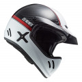 Casco caferacer LS2 Helmets MX471 XTRA YARD Carbon White Red