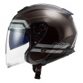 Casco jet LS2 Helmets OF521 INFINITY Hyper Wood