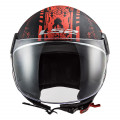 Casco jet LS2 Helmets OF558 SPHERE LUX Snake Matt Black Red