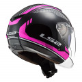 Casco jet LS2 OF573 TWISTER II Flix Black Violet