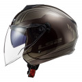 Casco jet LS2 OF573 TWISTER II Flix Wood