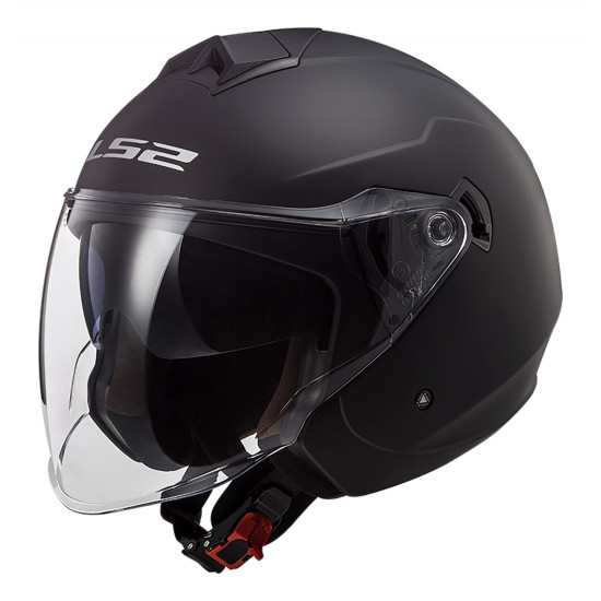 Casco jet LS2 OF573 TWISTER II Solid Matt Black