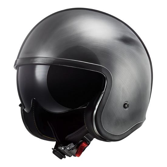 Casco jet LS2 Helmets OF599 SPITFIRE Jeans Titanium