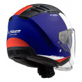 Casco jet LS2 OF600 Copter Urbane Matt Blue Red