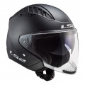 Casco jet LS2 OF600 Copter Solid Matt Black