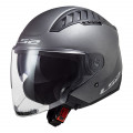 Casco jet LS2 OF600 Copter Solid Matt Titanium