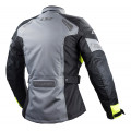 Chaqueta moto LS2 Phase Gris-Negro-Fluor - Mujer
