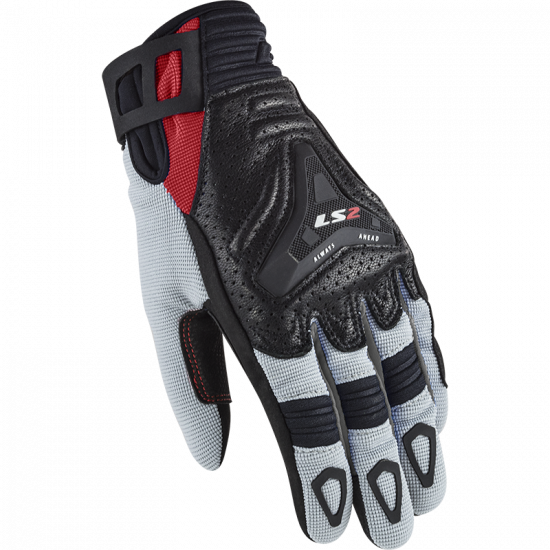 Guantes LS2 All Terrain Lady Grey Red