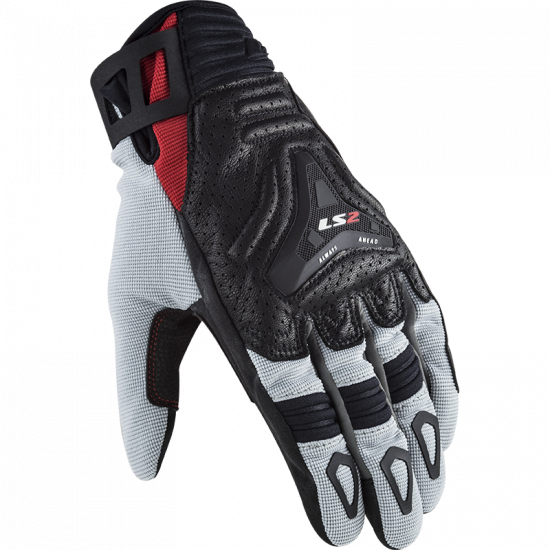 Guantes LS2 All Terrain Red Grey