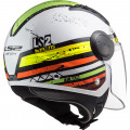 Casco jet LS2 Helmets OF562 AIRFLOW L RONNIE White Green