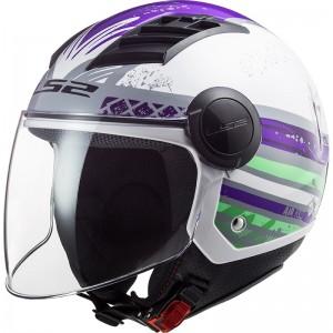 Casco jet LS2 Helmets OF562 AIRFLOW L RONNIE Titanium Violet