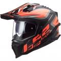 LS2 MX701 EXPLORER HPFC Alter Matt Black Fluo Orange