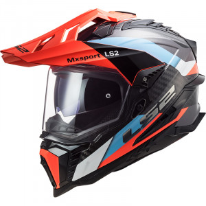 LS2 MX701 EXPLORER C Frontier Blue Fluo Orange