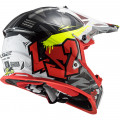 Casco cross/enduro LS2 Helmets MX437 FAST EVO Crusher Black Red