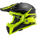 Casco cross/enduro LS2 Helmets MX437 FAST EVO Roar Matt Black HV Yellow