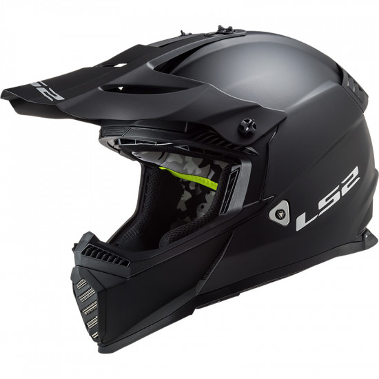 Casco cross/enduro LS2 Helmets MX437 FAST EVO Solid Matt Black