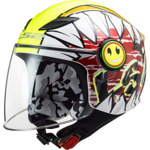 Casco INFANTIL LS2 OF602 FUNNY Crunch White HV Yellow