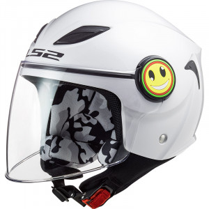 Casco INFANTIL LS2 OF602 FUNNY Solid White