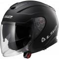 Casco jet LS2 Helmets OF521 INFINITY SOLID Matt Black