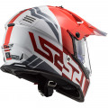 Casco offroad LS2 Helmets MX436 PIONEER EVO Evolve Red White