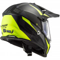 Casco offroad LS2 Helmets MX436 PIONEER EVO Router Matt Black HV Yellow