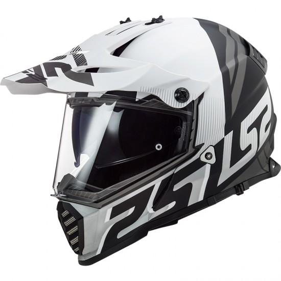 Casco offroad LS2 Helmets MX436 PIONEER EVO Evolve Matt Black White