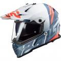 Casco offroad LS2 Helmets MX436 PIONEER EVO Evolve White Cobalt