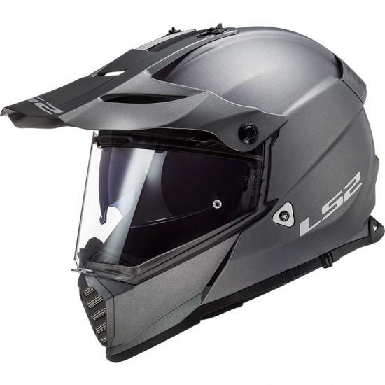 Casco offroad LS2 Helmets MX436 PIONEER EVO Solid Matt Titanium