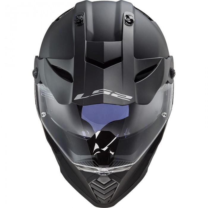 Casco offroad LS2 Helmets MX436 PIONEER EVO Solid Matt Black