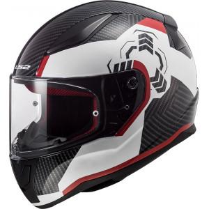 Casco integral LS2 Helmets FF353 RAPID Ghost White Black Red