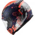 Casco integral LS2 Helmets FF353 RAPID Naughty Matt Blue Fluo Orange