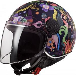 Casco jet LS2 Helmets OF558 SPHERE LUX Bloom Blue Pink