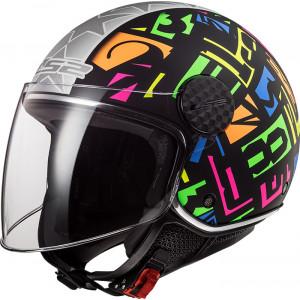 Casco jet LS2 Helmets OF558 SPHERE LUX Crisp Black HV Yellow