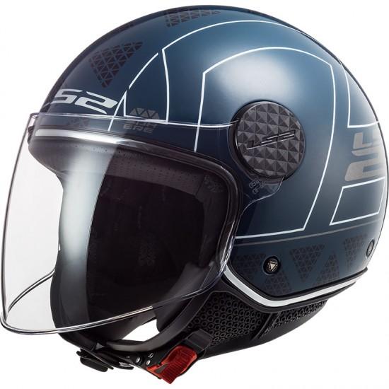 Casco jet LS2 Helmets OF558 SPHERE LUX Linus Cobalt