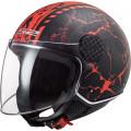 Casco jet LS2 Helmets OF558 SPHERE LUX Snake Matt Black Red
