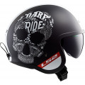 Casco jet LS2 Helmets OF599 SPITFIRE Inky Matt Black White