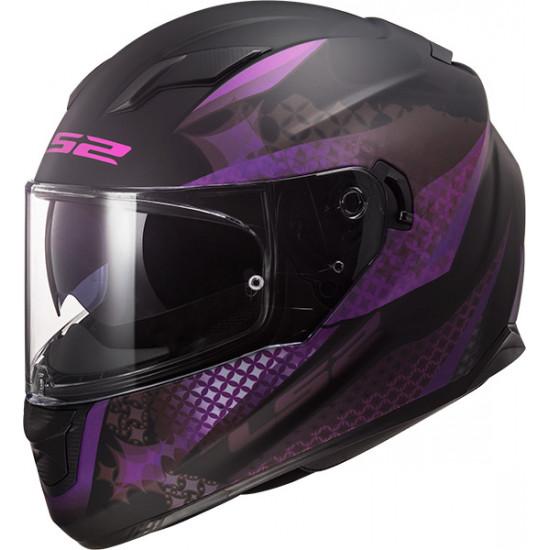 Casco integral LS2 Helmets FF320 STREAM EVO LUX Matt Black Pink