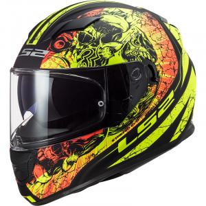 Casco integral LS2 Helmets FF320 STREAM EVO THRONE Matt Black HV Yellow