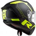 LS2 FF805 THUNDER Racing 1 Matt HV Yellow